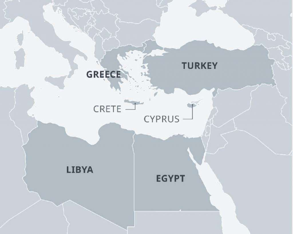 Τουρκία, Ελλάδα, ΛΙβύη, Αίγυπτος,
