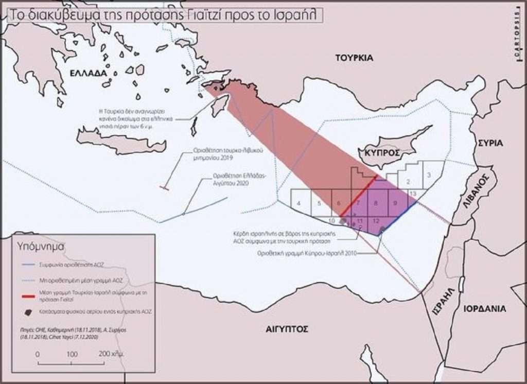 ΑΟΖ Τουρκίας με Ισραήλ προτείνει ο εμπνευστής της